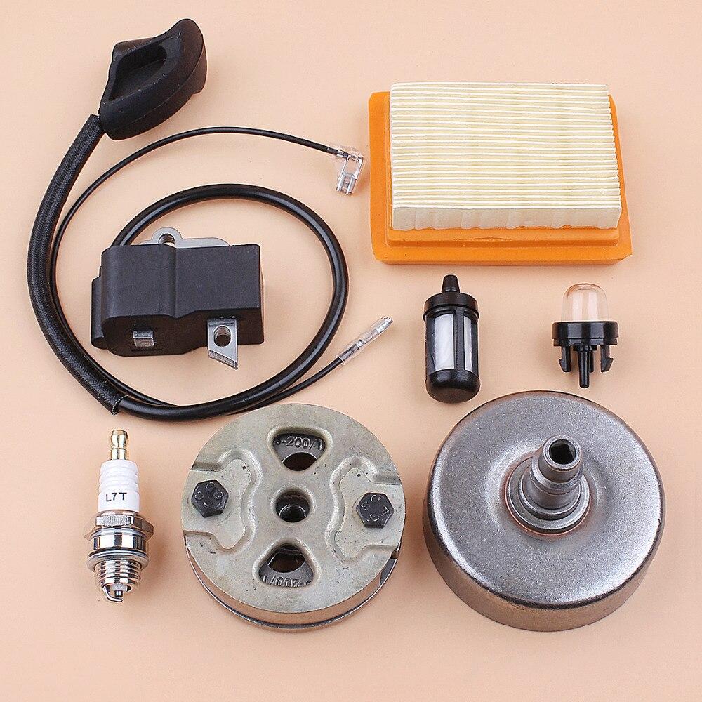 Filtre à Air de bobine d'allumage de tambour d'embrayage pour STIHL FS120 FS200 FS250 coupe gazon (trou carré) OEM 4134 160 2900, 4134 400 1301