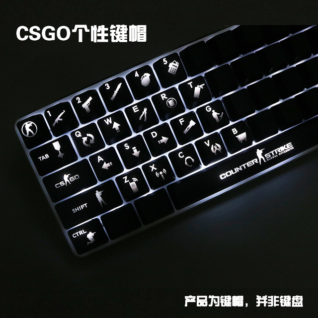 1 set ABS CSGO mechanical keyboard Keycaps personality transparent Wearable  keycap