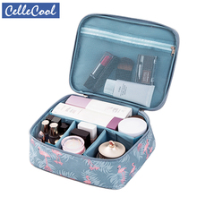 Bolsa de cosméticos portátil impermeable multifunción CelleCool organizador de gran capacidad para mujer bolsa de maquillaje de belleza de necesidad de viaje