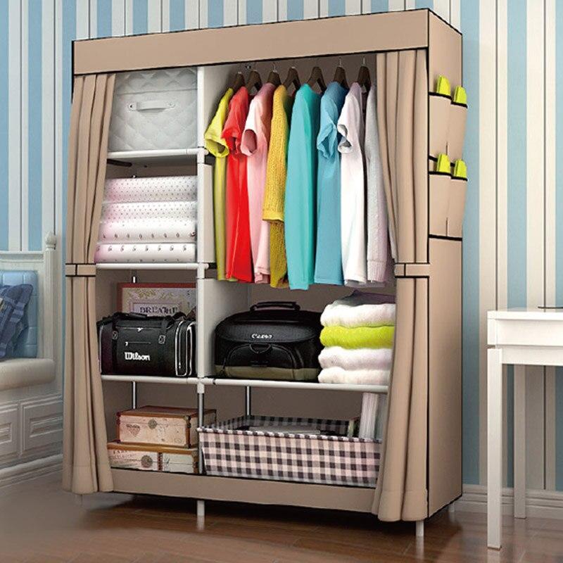 Kaidi Simple Wardrobe Multifunction Fabric Closet Portable Wardrobe Furniture Cloth Storage Clothes Wardrobe Bedroom Storage