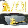Car Rear Window Wiper Sticker Moving Tail Stickers Dog Cat Decals Cartoon Funny Stickers on Car Decoration Film For Car Styling