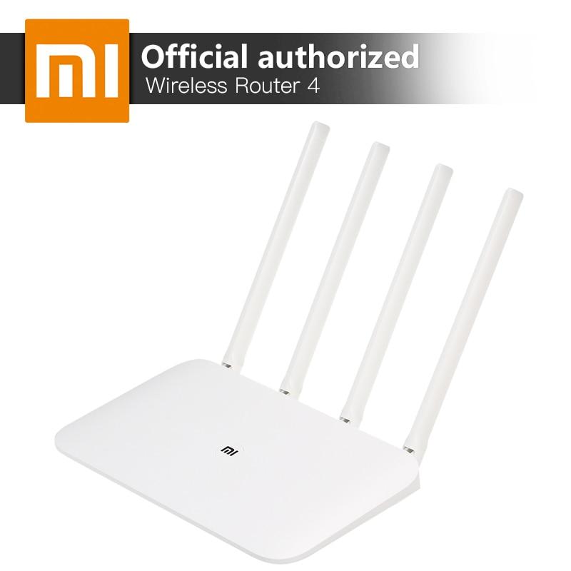 Xiaomi MI WiFi Wireless Router 4 Dual Band 2.4/5Ghz Gigabit Smart Mini WiFi Repeater 4 Antennas Dual Core 880MHz APP Control xiaomi mi router hd version wifi repeater 2533mbps 2 4g 5ghz dual band app control wifi wireless metal body mu mimo