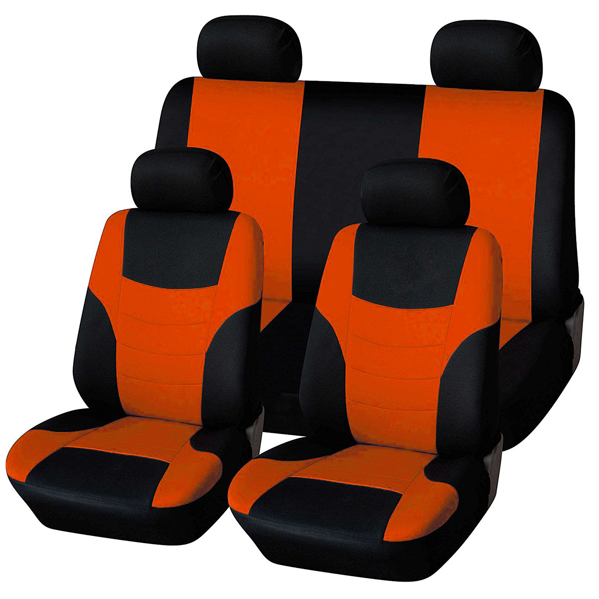 Pleasant 8Pcs 2019 New Auto Car Seat Covers Universal Automotive Car Seat Cover Fit Most Vehicles Seats Orange Creativecarmelina Interior Chair Design Creativecarmelinacom