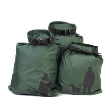3Pcs Waterproof Bag Storage Dry Bags for Canoe Kayak Rafting Sports Outdoor Camping Travel Kit Equipment Army Green
