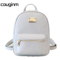 Women Backpack Small Size PU Leather Women S Bags Fashion School Girls Female Backpack Famous