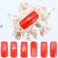 800 шт./упак. DIY золотые полые хлопья Блестки для ногтей инсет Блестки Дизайн ногтей украшения - фото