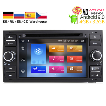 HIRIOT Car Android 9.0 DVD GPS Player For Ford Focus Transit C-Max S-MAX Mondeo Kuga Auto Navi Stereo Radio BT Wifi Octa 8 Core image