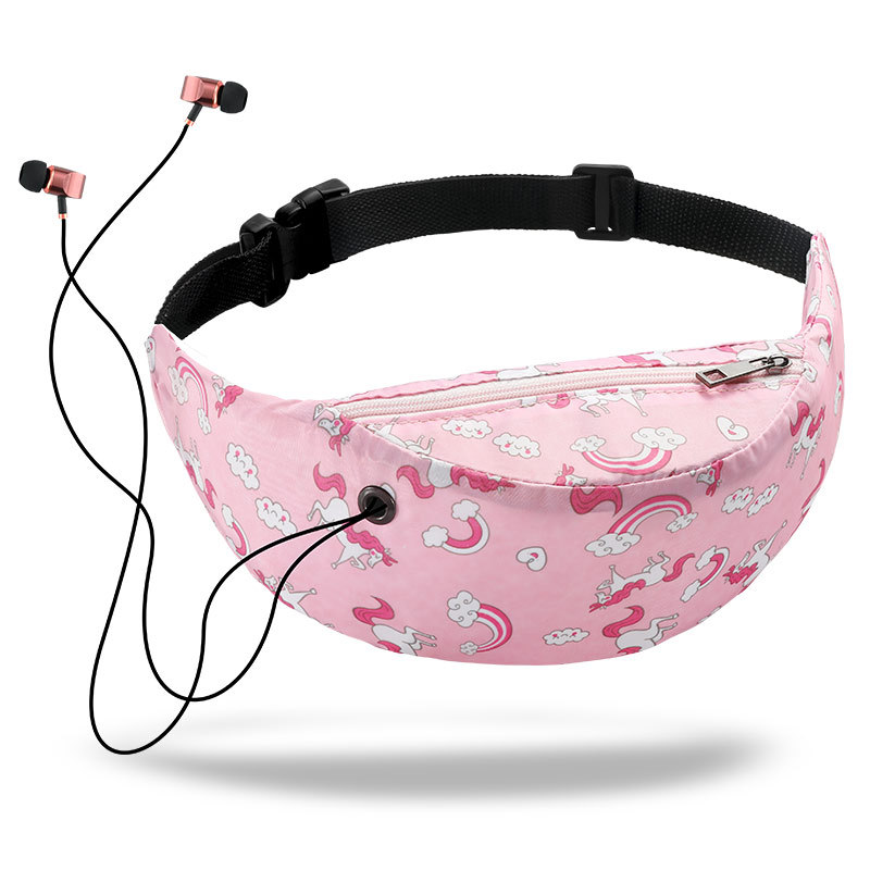 Miyahouse Fashion Women Waist Pack Unicorn Printed Female Mini Bag Suitable For All Kinds Of Sports Ladies Waist Bag
