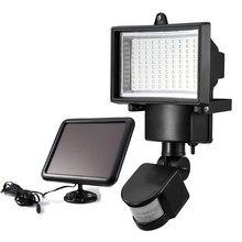 100 SMD LED Солнечный Свет Обеспеченностью Датчика Движения Открытый Сад Наводнение Лампы