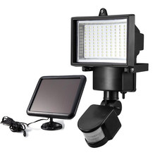 100 SMD LED Solar Powered Sensor Security Light Motion Outdoor Garden Flood Lamp
