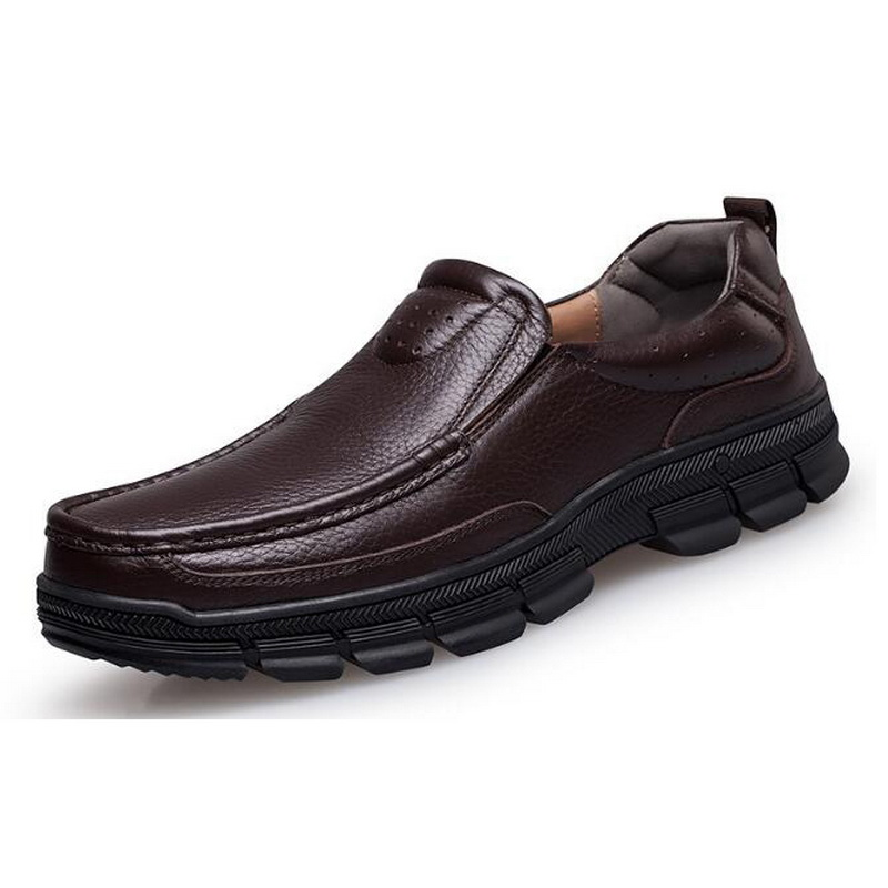 Слипоны Для мужчин обувь из натуральной кожи для официальный Повседневное поводов 2018 в Китае новый завод Дизайн мужские формальные лоферы