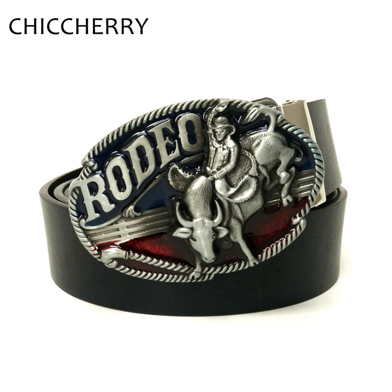 ᗛFashion Men s Jeans PU Leather Belts Rodeo Western Cowboy Big Belt ... 4fd81fc0a02