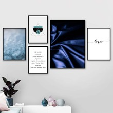 Silk Geometric Marble Love Quotes Wall Art Canvas Painting Nordic Posters And Prints Pictures For Living Room Bedroom Decor