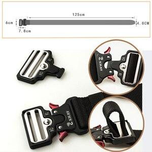 Image 3 - MEGE Mannen Tactical Army Belt Militaire Nylon Riem Outdoor multi functionele Breedte Training Canvas Riem Hoge Kwaliteit Band ceintures
