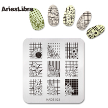 Girl Pattern Nail Art Image Stamp Stamping Plates Manicure Template