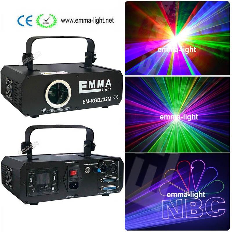 DMX ILDA 3D Multi Color 1 2 watt RGB Beam Laser Light DJ Lights Stage Lighting