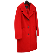 Winter cashmere wool coat female medium long thickening woolen outerwear suit free shipping