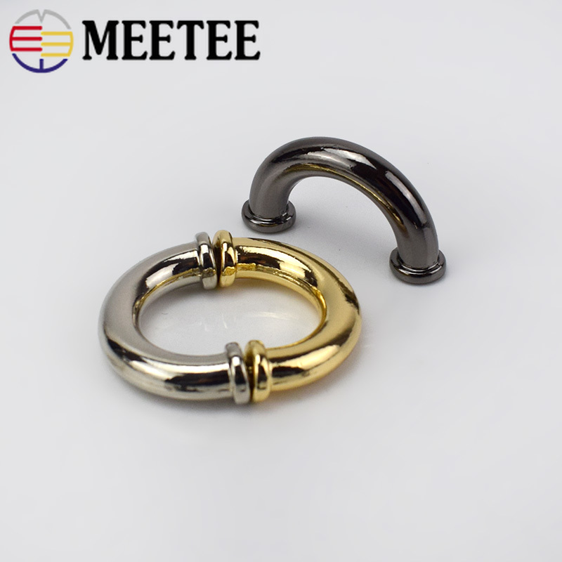 <font><b>15mm</b></font> Metal <font><b>Buckles</b></font> DIY Handbag Leather Bags Strap Hangers Garment Decoration Hardware Accessories BD302 image