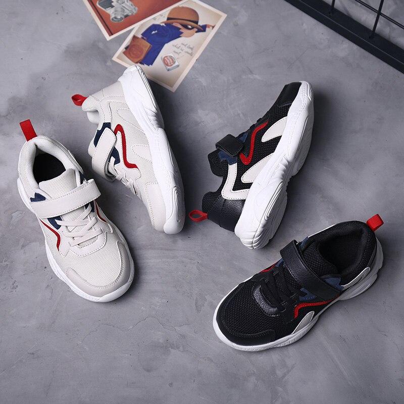 Купить с кэшбэком New Kids Running Shoes 2019 Spring Summer Breathable Casual Boys Sneakers Fashion Magic Post Sport Children Shoes 1918