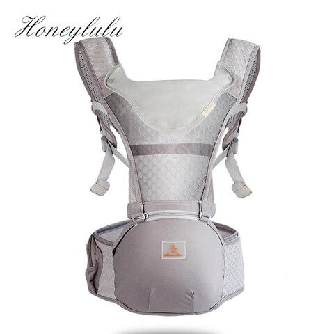 honeylulu verao portador de bebe respiravel moda canguru mochila com saco de armazenamento ergoryukzak babadores