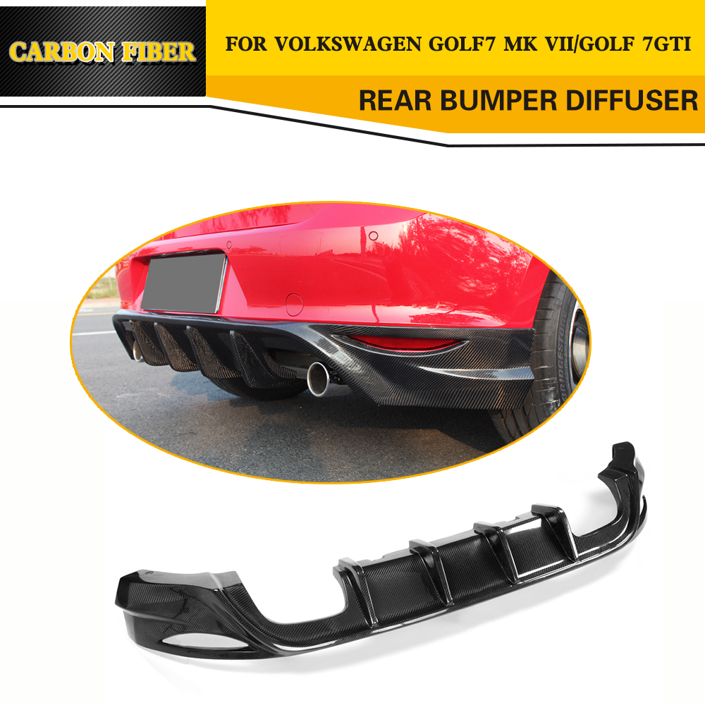 O Styling Carbon fiber Racing Rear Diffuser Lip for VW Golf VII MK7 GTI Bumper Only 2014-2016