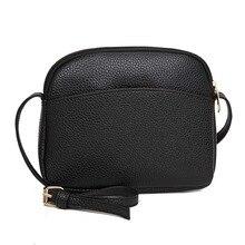 Женские сумки-мессенджеры из искусственной кожи, сумки через плечо, одноцветные маленькие сумки для женщин