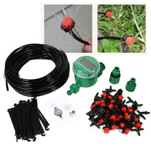 1Set Automatic Digital LCD Electronic Water Timer Controller Self Watering Drip Irrigation Micro System Garden Dripper Hose Kits(China)