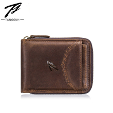 купить Fashion 2019 Leather Wallets Men Wallet with Coin Bag Zipper Small Money Purses New Design Dollar Slim Purse Money Clip Wallet по цене 830.42 рублей