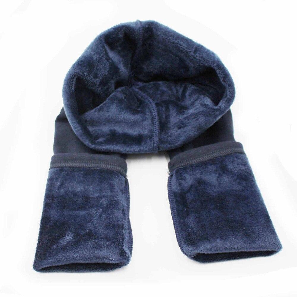 Thermal Warm Fleece Lined Kid Girls Pants Winter Solid Color Sport Leggings for Little Girls Children's Clothing Navy Blue Gray