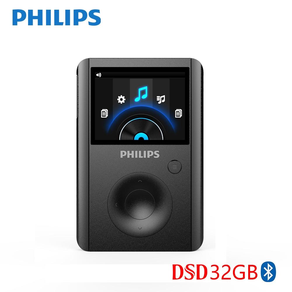 PHILIPS SA8232 Новое поступление 2017 года HIFI MP3 плеера Bluetooth DSD 3800 г Музыкальные ресурсы 32 ГБ хранения Поддержка синхронизации Switcher