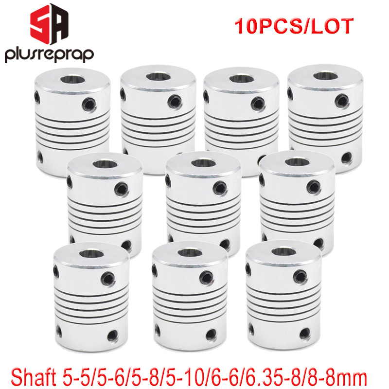 10PCS Flexible Shaft Coupling Coupler 5mm 6mm 6.35mm 8mm 10mm Stepper Motor Coupling Flexible Shaft For 3D Printer Part