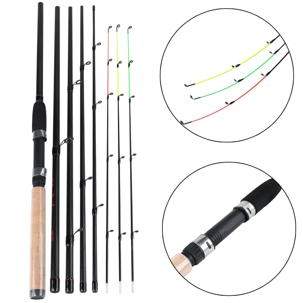Sougayilang Fishing Rod 99% Carbon Feeder Fuji O-ring 300cm Length Fishing Tackle