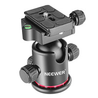 Neewer Professional Metal 360 Degree Rotating Panoramic Ball Head with Quick Shoe Plate Bubble Level for Tripod Monopod DSLR