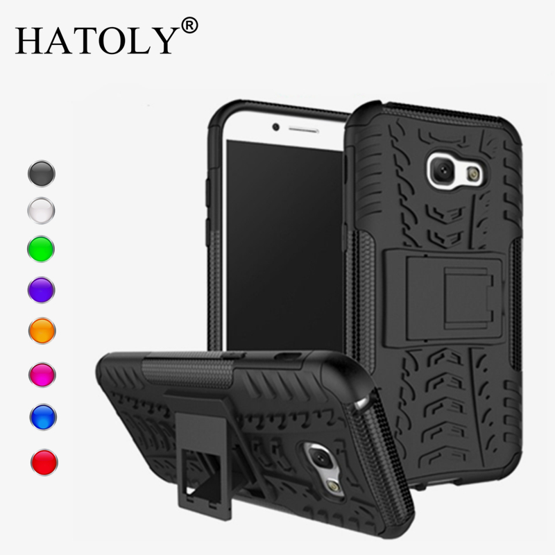 Կափարիչի համար Samsung Galaxy A5 2017 Case Anti-knock Heavy Duty Armor Stand Cover Cover Silicon Phone Bumper Case for Samsung A5 2017 A520