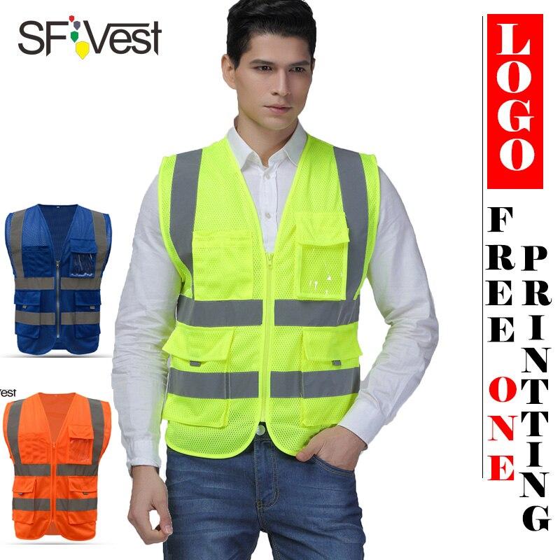 Hi Vis Reflective Safety Vest High Viz High Visibility Mesh Waistcoat Colours