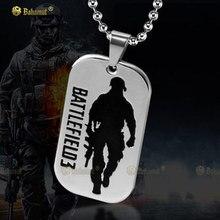 Bahamut Battlefield 3 Tag Dog collar colgante – titanio acero
