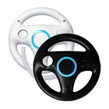 ONETOMAX 2Pcs Plastic Innovative and ergonomlc design Kart Racing Game Steering Wheel For Nintendo Wii Kart Remote Controller(China)