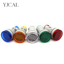 YJCAL AC 1V-500V LED Digital Display Voltmeter Combined Indicator Light 22MM Signal Lamp High Quality Boat Lights Navigation