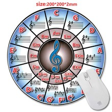 Circle of fifths piano New Arrivals Round Gaming font b Mouse b font Mat Custom Your