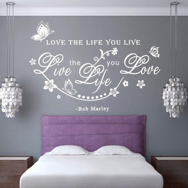 Bob Miłość Naklejki ścienne Cytaty Angielskie Zdanie Miłość życie