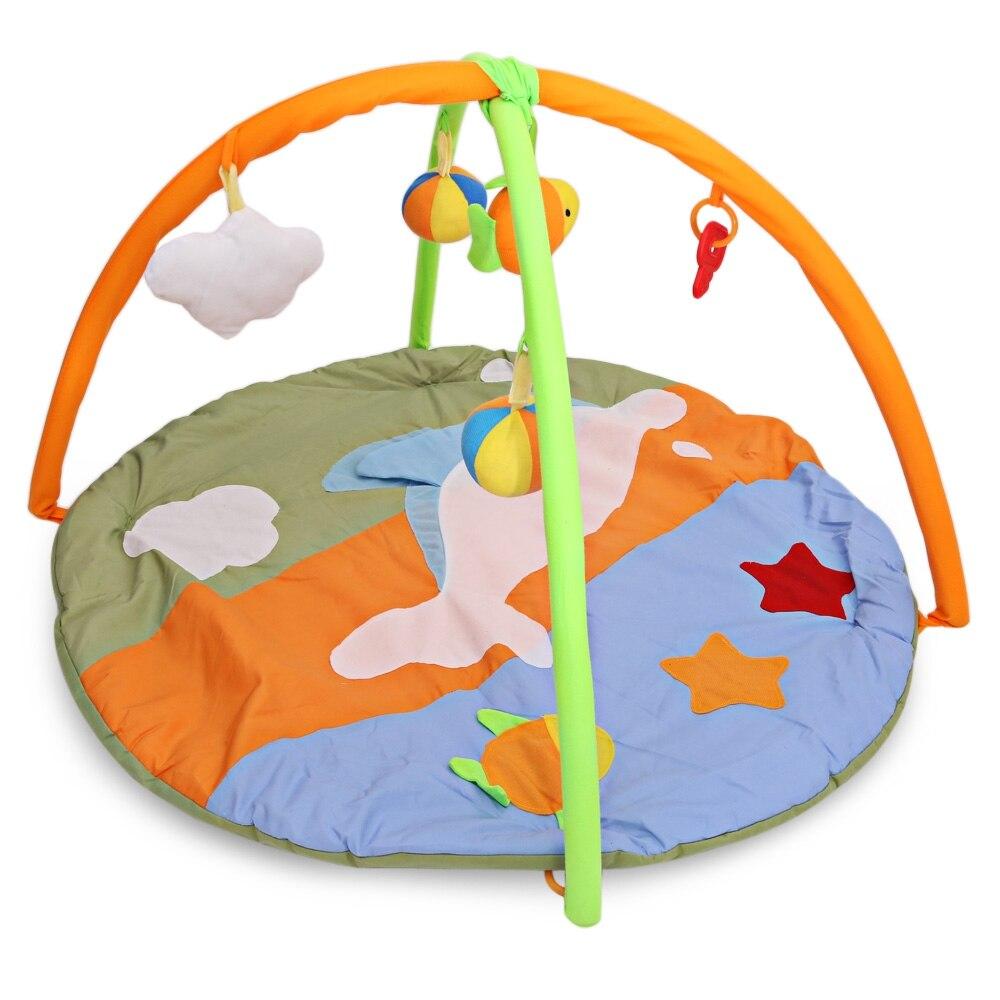 Dauphin bébé jouet bébé tapis de jeu 0 ~ 1 an jeu Tapeta Infantil coloré éducatif ramper tapis jouer Gym bande dessinée couverture Curpet