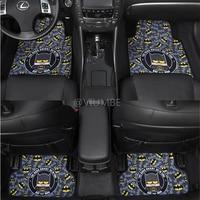 marvel cartoon cute batman car floor mats set suede fur carpet non slip auto foot mat plane pad universal for all cars styling