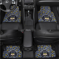 marvel cartoon cute batman car floor mats set suede fur carpet non slip auto foot mat plane pad universal for all cars styling