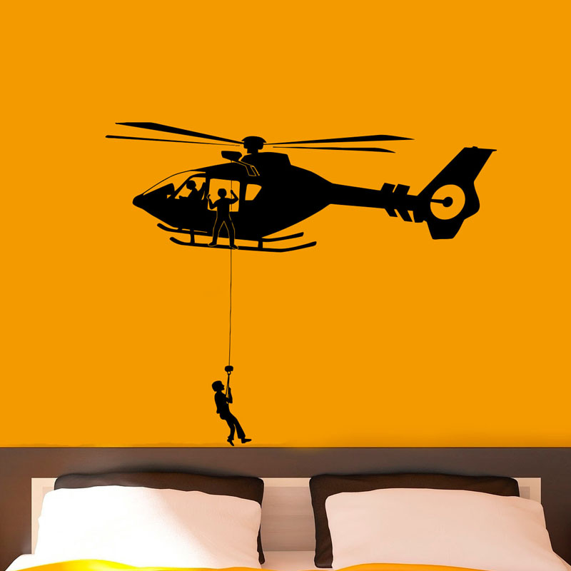 ZOOYOO Airforce Helicopter Army Wall Stickers Removable Art Vinyl ...