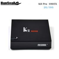 KII quente Pro DVB T2/S2 2G 16G Caixa de TV Android 5.1 Amlogic S905 Quad-core 4 K * 2 K 2.4G & 5G Wifi Bluetooth 4.0 Androidtvbox