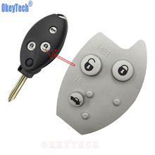 OkeyTech Replacement 3 Buttons Remote Car Key Rubber Pad For Citroen Xsara Picasso Berlingo Good Quality Buttons Skin Cover Case