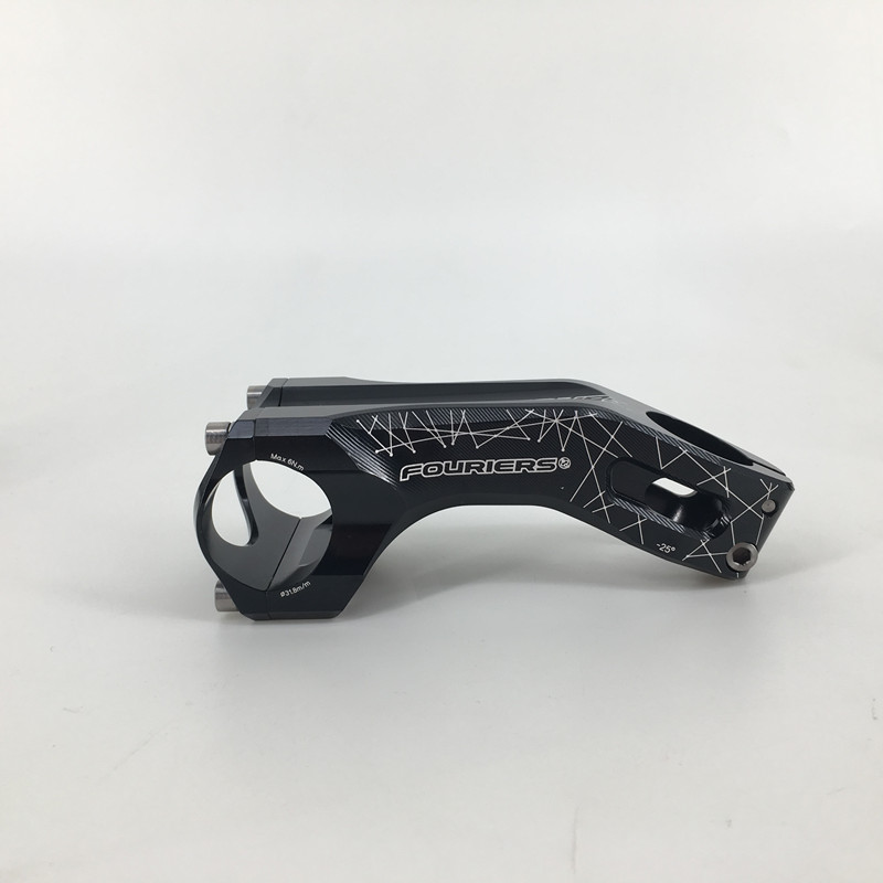 FOURIERS -25 degree Bicycle Stem MTB Bike Stem Accessories Cycling Stems Part 80-120MM new temani full carbon adjustable angle bicycle stems 0 degree to 45 degree mtb road bike stem parts 31 8 90 100 110 120mm