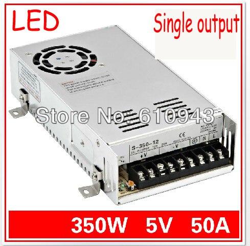 S-350-5V 50A unique sortie alimentation à découpage pour LED SMPS AC à DC