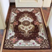 Europe Style Flowers print Jacquard Carpet Area Rug For Bedroom Livingroom Kitchen Baths Mat Door Mat