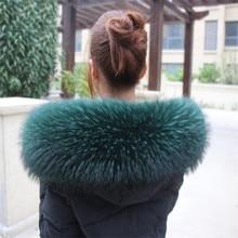 Шарф из натурального меха енота, Модный женский шарф из натурального меха енота, теплая зимняя шаль, шарфы, роскошный мусульманский шарф больших размеров